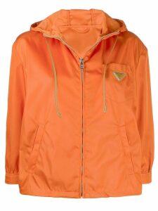 Prada cropped hooded jacket - ORANGE