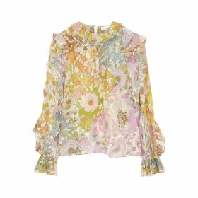 Zimmermann Super Eight Floral-print Cotton-blend Blouse