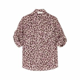 Zimmermann Super Eight Safari Leopard-print Silk Shirt