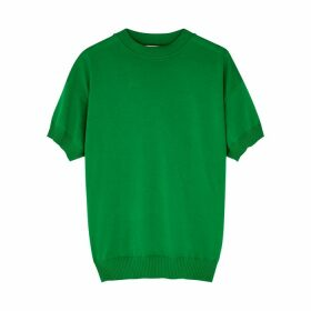 Plan C Green Fine-knit Cotton T-shirt