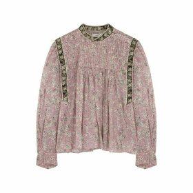 Isabel Marant Étoile Vega Floral-print Cotton Blouse