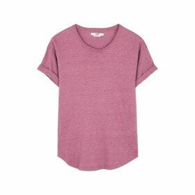Isabel Marant Étoile Koldi Mauve Linen T-shirt