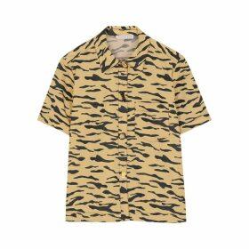 Rejina Pyo Nico Tiger-print Cotton Shirt