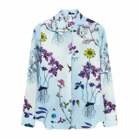 Stella McCartney Willow Floral-print Silk Crepe De Chine Shirt