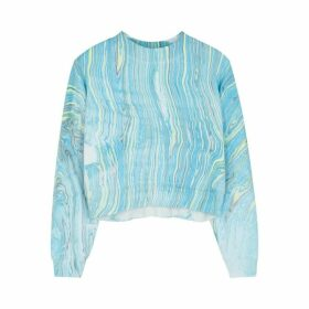 Cotton Citizen Milan Marble-print Cotton Sweatshirt