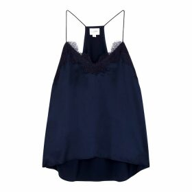 Cami NYC The Racer Lace-trimmed Silk Top