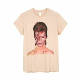 MadeWorn Bowie Ziggy Printed Cotton T-shirt
