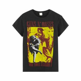 MadeWorn Guns N Roses Illusion Printed Cotton T-shirt
