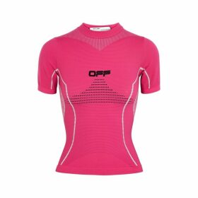 Off-White Active Fuchsia Stretch-jersey Top