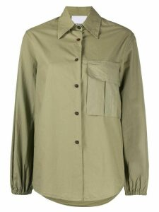 Erika Cavallini patch-pocket shirt - Green