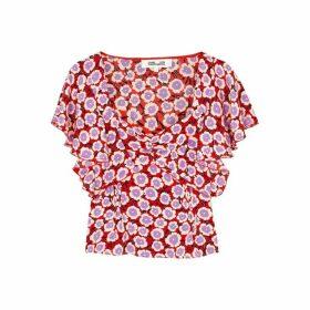Diane Von Furstenberg Lydia Floral-print Silk Top