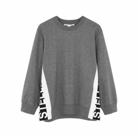 Stella McCartney Grey Logo Cotton Sweatshirt