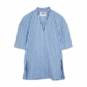 Jil Sander Striped Cotton Blouse