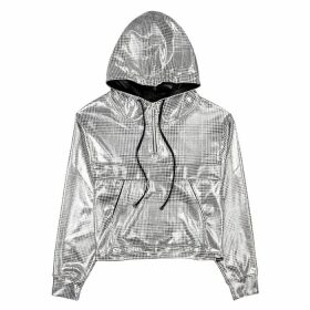 Koral Activewear Reserve Grey Checked Metallic Jersey Sweatshirt