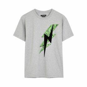 Isabel Marant Yates Grey Printed Cotton T-shirt