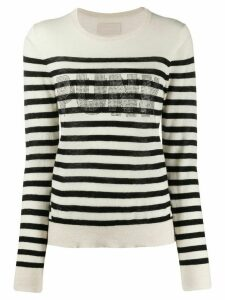 Zadig & Voltaire stripe slim fit jumper - Black