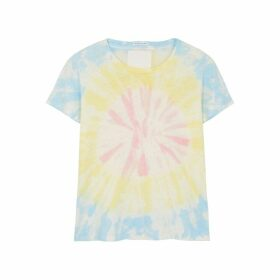 Mother Sinful Spiral Tie-dyed Cotton-blend T-shirt