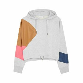 H2OFAGERHOLT Grey Colour-block Cotton-blend Sweatshirt