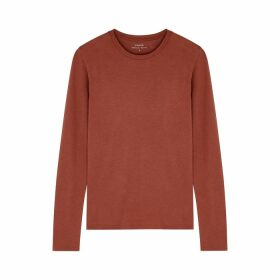 Vince Rust Pima Cotton Top