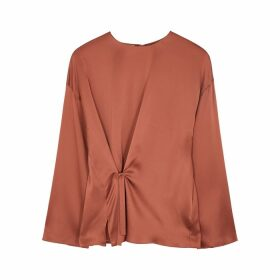 Vince Rose Wrap-effect Silk Blouse