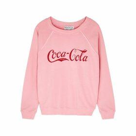 Wildfox Vintage Coca-Cola Sommers Cotton-jersey Sweatshirt