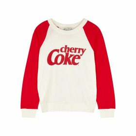 Wildfox Cherry Coke Fiona Cotton-jersey Sweatshirt