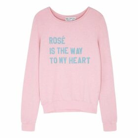 Wildfox Rosé Is The Way Baggy Beach Jersey Sweatshirt
