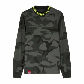 Alpha Industries Camouflage-print Cotton-jersey Top