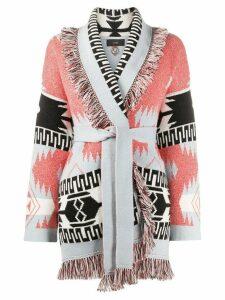Alanui Icon fringed cashmere cardi-coat - ORANGE