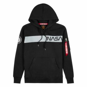 Alpha Industries Black Hooded Cotton-blend Sweatshirt