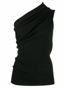 Rick Owens one-shoulder fitted top - Black