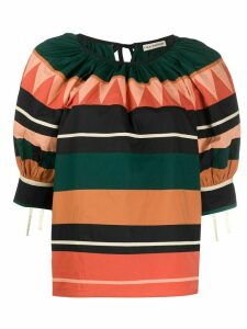 Ulla Johnson striped print T-shirt - ORANGE