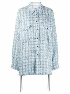 Faith Connexion tweed oversized-fit shirt - Blue