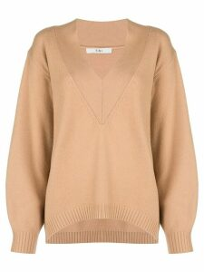 Tibi V-neck jumper - NEUTRALS