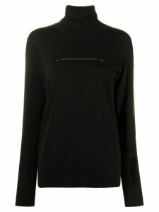 Mm6 Maison Margiela stitching detail turtle neck jumper - Black