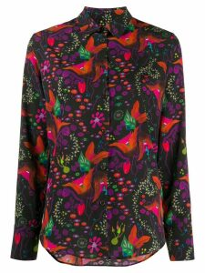 PS Paul Smith floral print shirt - Black