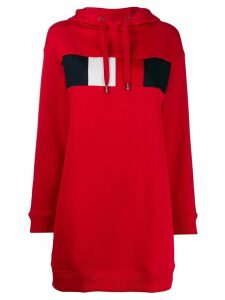 Tommy Hilfiger long sleeve oversized logo hoodie - Red