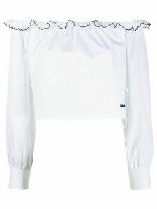 Miu Miu cropped off-the-shoulder blouse - White