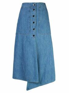 Tibi stone enzyme denim skirt - Blue