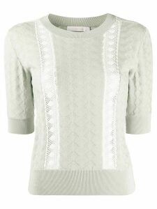 See by Chloé jersey lace knitted top - Grey