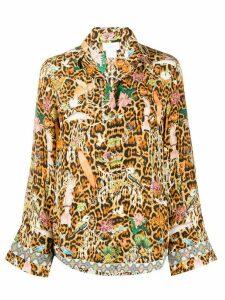 Camilla Fauna Electro-print silk shirt - Brown