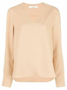 Tibi V-neck blouse - NEUTRALS