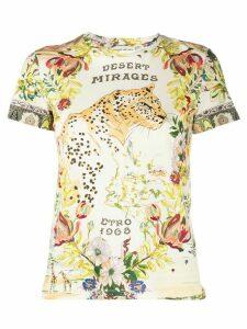 Etro floral print short sleeve T-shirt - NEUTRALS