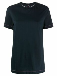 Tommy Hilfiger logo print T-shirt - Blue