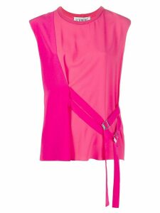 Iceberg double belt sleeveless blouse - PINK
