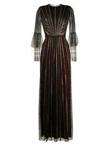 Temperley London beaded flared evening dress - Black