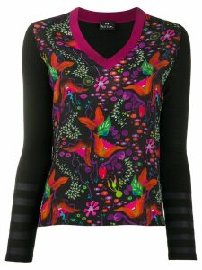 PS Paul Smith floral pattern jumper - Black