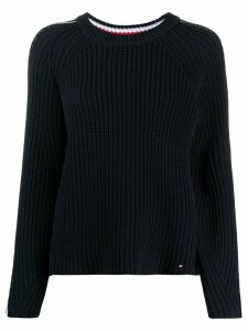 Tommy Hilfiger striped chunky knit jumper - Blue