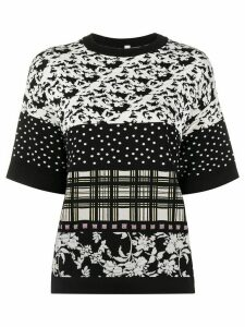 Antonio Marras mix pattern jumper - Black