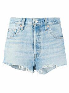 Levi's distressed denim shorts - Blue